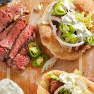 Easy Steak Gyros + Homemade Pita.