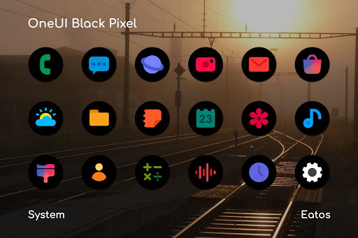 OneUI 2.0 Black - Pixel Icon Pack  screenshots 1