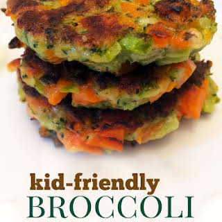 Crispy Broccoli and Carrot Fritters.