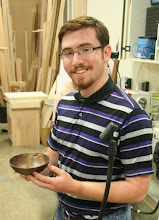 Photo: ...and brother 'Jay' Allison brought his very first bowl to show.  And a very fine, thin one it is!  He must have a good teacher!