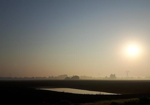 Nebbiolina sui campi arati di supergigi
