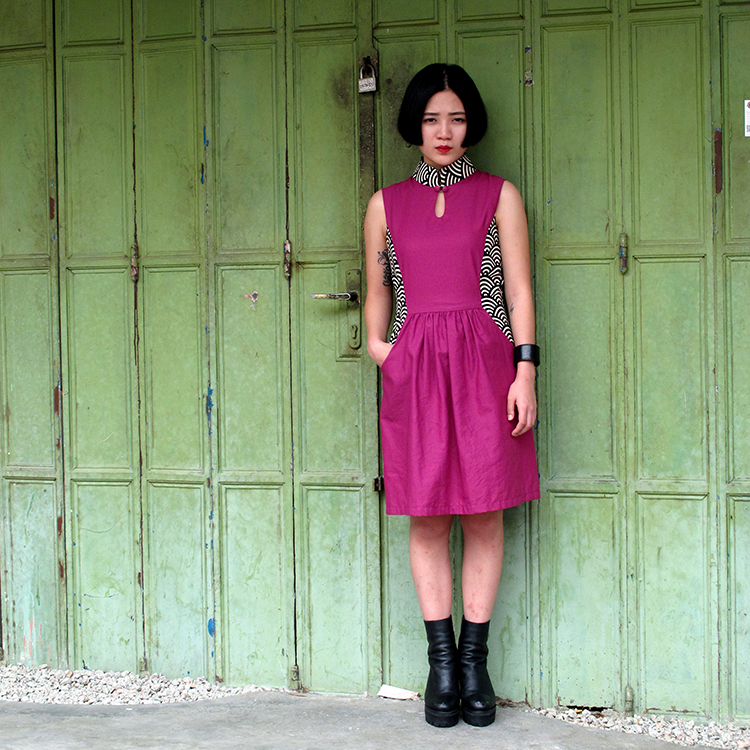 Fen Qipao Purple Medium
