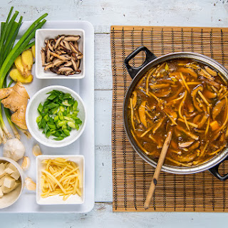 End of Winter Hot and Sour Soup.