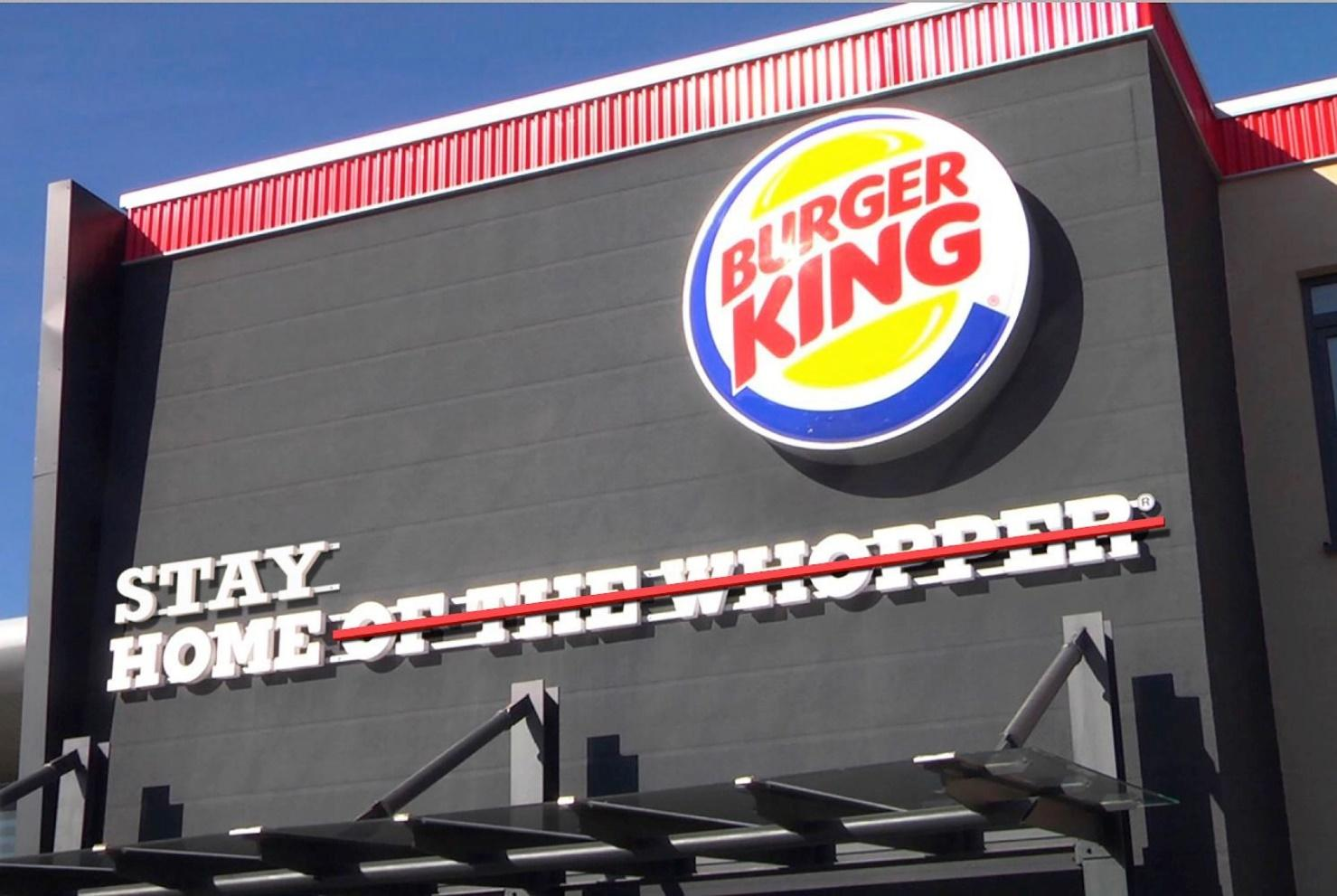 Burger King Outdoor Advert By : Stay Home   Ads of the World™