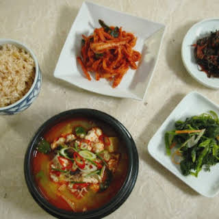 Soft Tofu and Vegetable Stew.