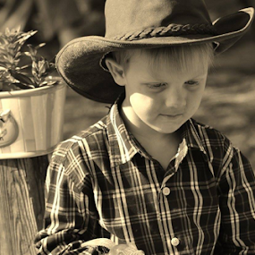 Cowboy Sephus! by Terry Linton - Black & White Portraits & People (  )