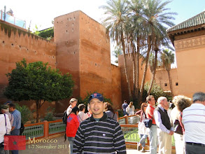 Photo: at the Saadian Tombs in Marrakech