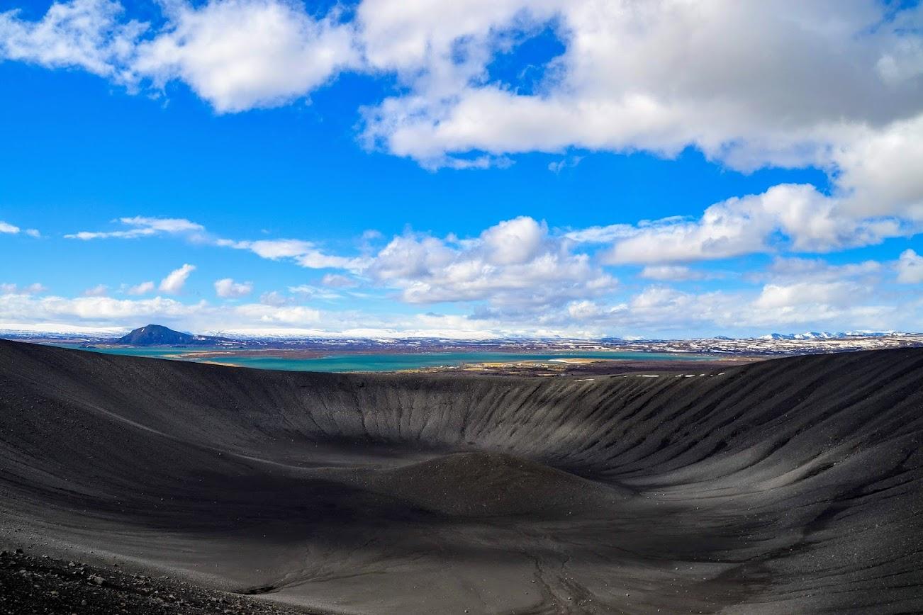 Cráter Hverfjall Islandia