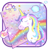 Rainbow Unicorn Keyboard Theme