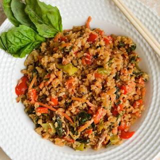 Healthy Basil Cauliflower Fried Rice.