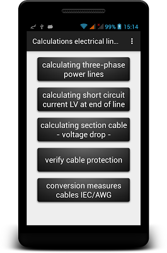 Calculations electrical lines