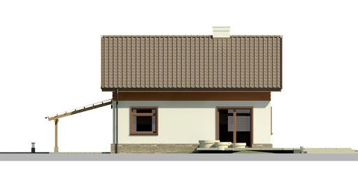Dom przy Imbirowej 3 - Elewacja tylna