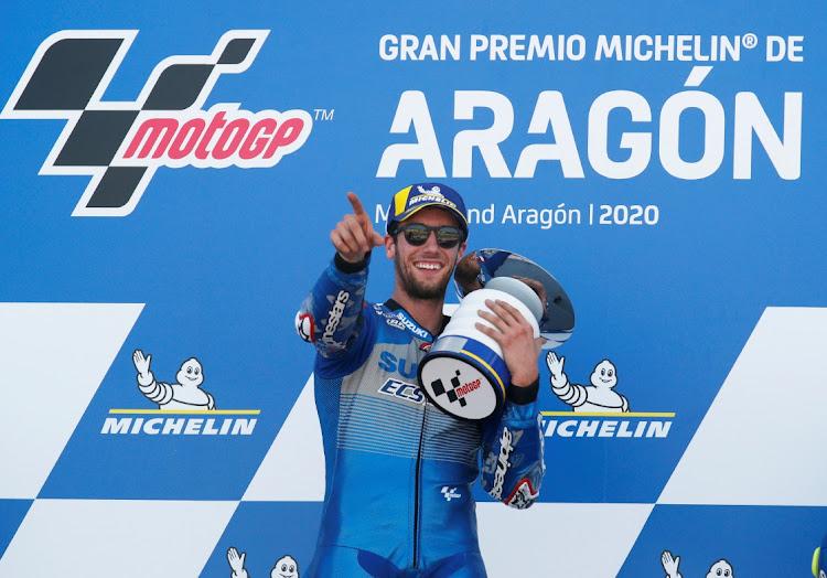 Alex Rins battles past Marquez to seal victory at Aragon MotoGP