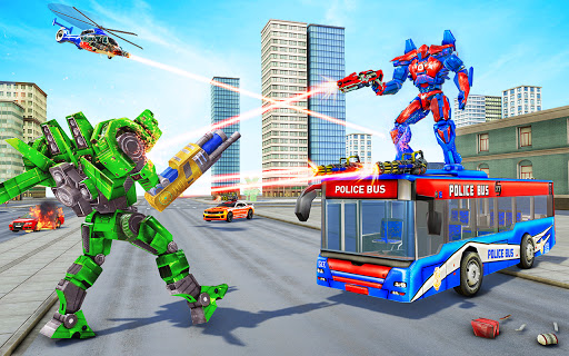 Bus Robot Car Transform War u2013Police Robot games apkdebit screenshots 14