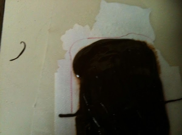 Meanwhile, place the pattern(s) under some wax paper so you can see it. Spray...