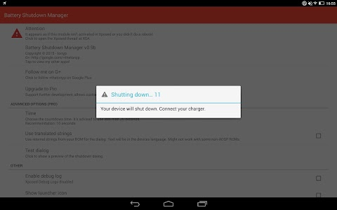 Battery Shutdown Manager v1.1 (Pro)