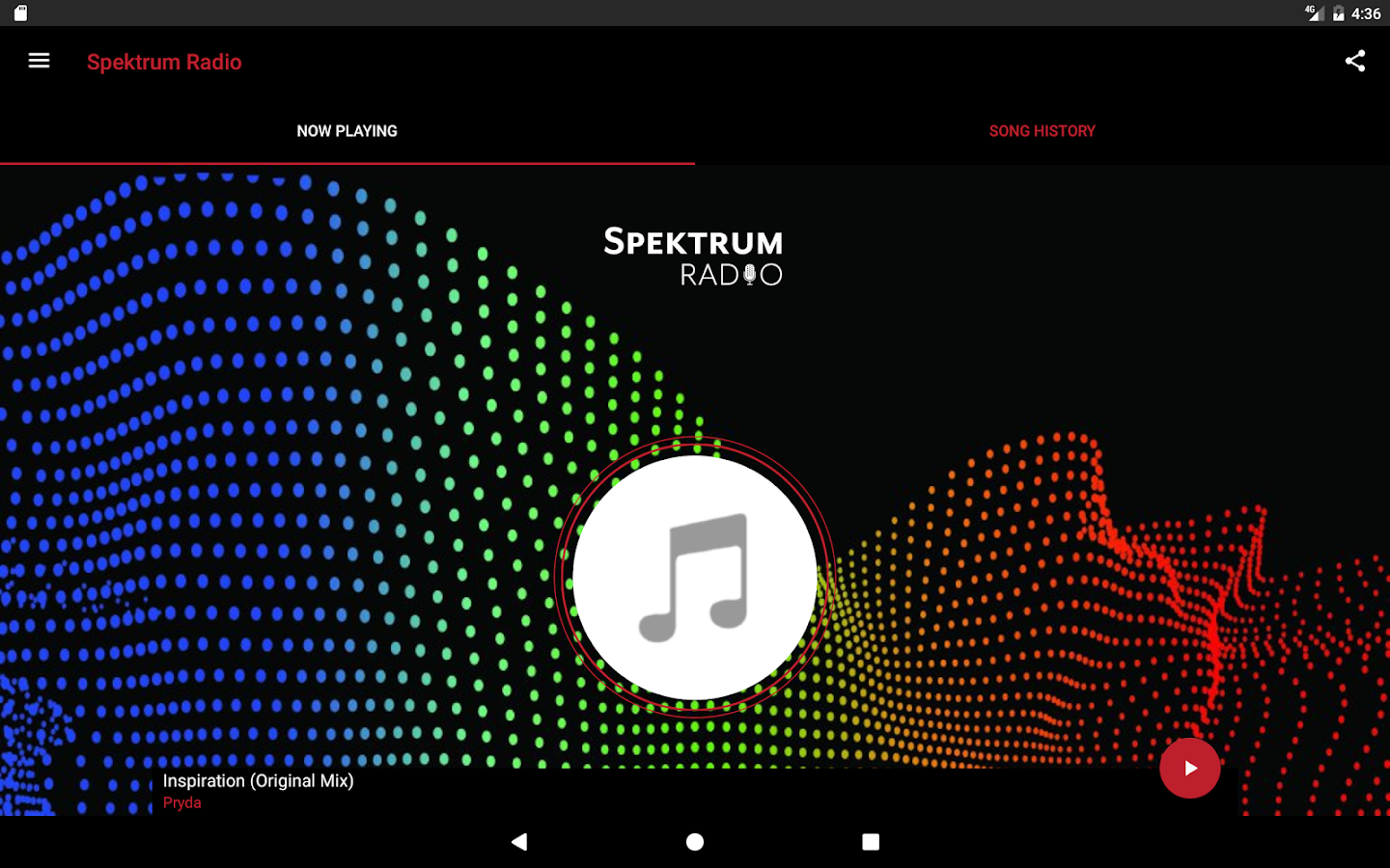 Spektrum Radio- screenshot