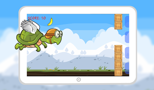 Flying Hungry Turtle Adventure screenshot 0
