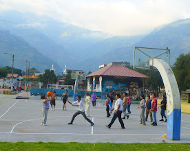 Photo: Coed basketball, playground in Banos