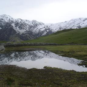 Reflection of Nandaghunti by Shishir Desai - Landscapes Mountains & Hills ( water, mountain, north india, himalaya,  )