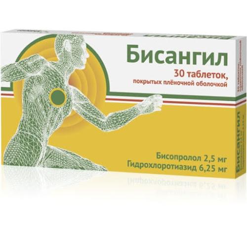 Бисангил таб.п/о плен. 2,5мг+6,25мг №30