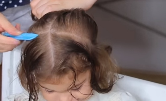 baby girl hairstyle for very short hair