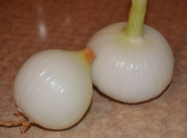 Makes 2 sandwiches.  (Hint: I used CandyApple onions    -pictured here-...