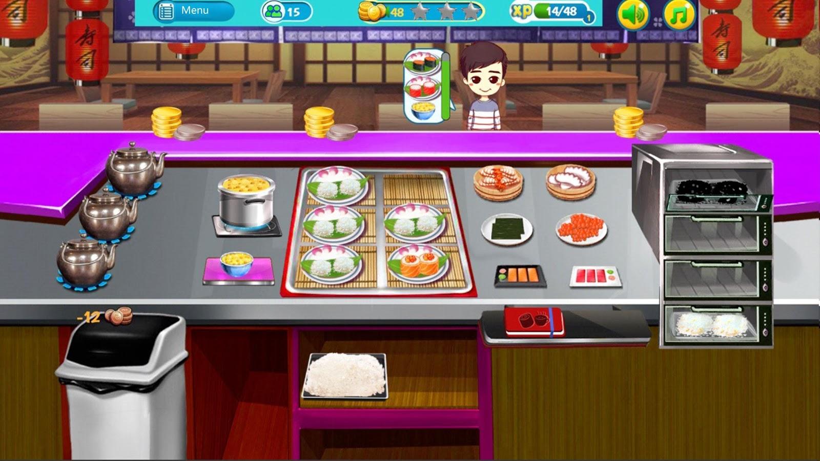 Sushi game cooking game simulation restaurant game for Kitchen design simulator
