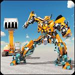 Excavator Robot Transformation: Transforming Robot Icon