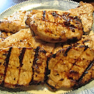 Pineapple Marinated Grilled Pork Chops.