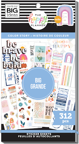Me & My Big Ideas Happy Planner Stickers Value Pack - BIG Color Story 312