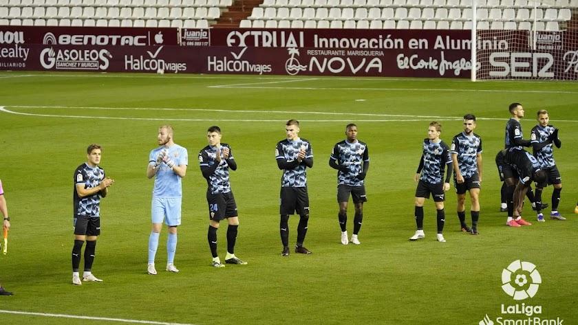 Los jugadores del Almería.