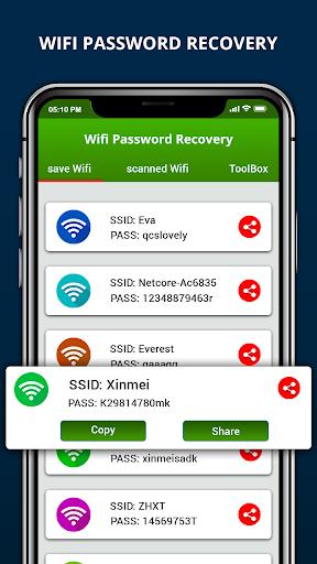 Wifi Password Recovery & Internet Speed Test screenshot 1