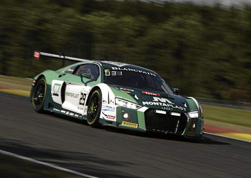 Kelvin and Sheldon van der Linde took third at the 24-Hours of Spa. Picture: AUDI MOTORSPORT