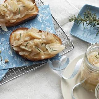 Braised Onion and Garlic Bruschetta.