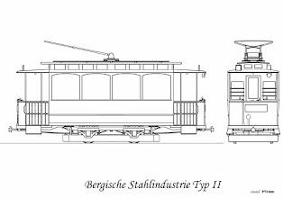 Photo: Dostarczone równolegle z typem I, pod względem technicznym identyczne z typem I. Jedyną różnicą było pudło i wnętrze. Dostarczono ich 10 sztuk. Wagon posiadał po bokach 4 szerokie okna, we wnętrzu 20 miejsc siedzących i również 12 stojących. Pomosty otwarte. W kolejnych latach otrzymywano tylko wagony II typu, z dwoma silnikami 15 KM, nadwozia do nich montowano częściowo w warsztatach przy ul. Gajowej.