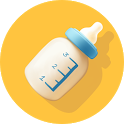 Baby Breastfeeding Tracker. Newborn Diary icon