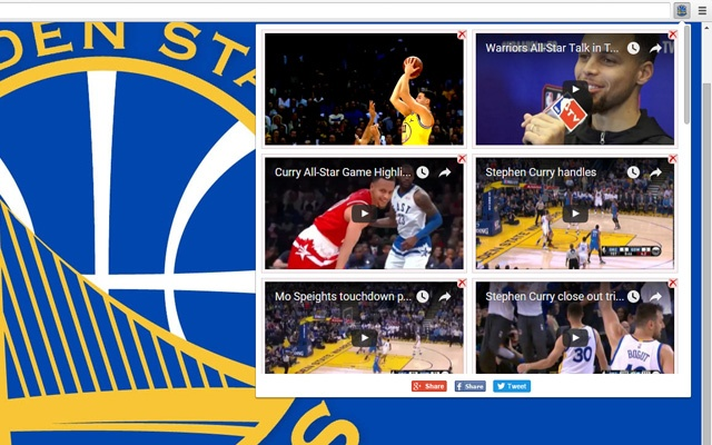 Golden State Warriors Video chrome extension
