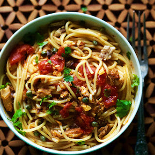 Spaghetti With Sardines, Capers And Lemon