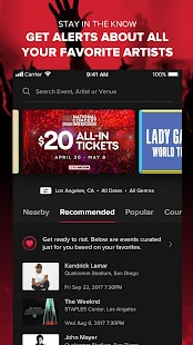 Live Nation At The Concert Screenshot