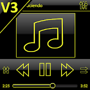 App SKIN PLAYERPRO V3 DARK YELLOW APK for Windows Phone