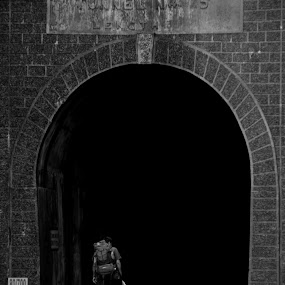 Into the Abyss by Dhruva Chandramouli - People Street & Candids ( hiker, tunnel )