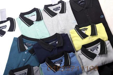Kho bán buôn quần áo Made in Vietnam, VNXK, áo phông nam có cổ geox
