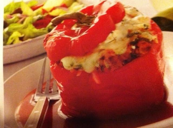 Turkey And Rice Stuffed Peppers Recipe