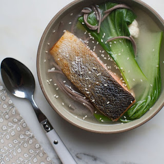Salmon Soba Noodle Miso Bowl