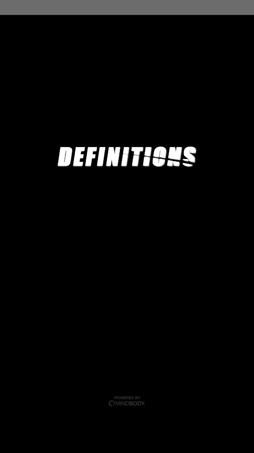 Definitions Fitness Studio- screenshot