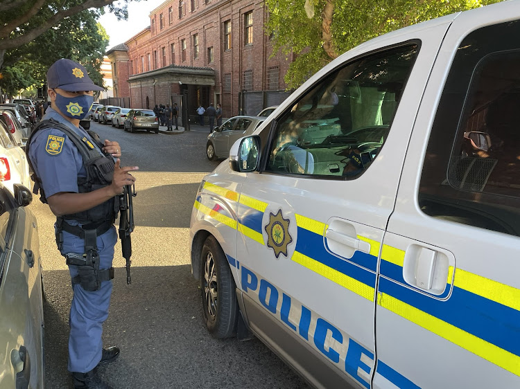 Police took up positions around the Cape Town magistrate's court ahead of the appearance of alleged underworld figure Nafiz Modack on Monday.