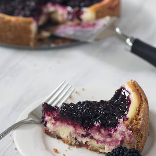 Blackberry Goat Cheese Cheesecake