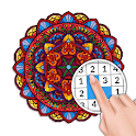 Mandala Color by Number: Coloring Book for Adults icon
