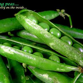 Smiling peas... by Asif Bora - Typography Quotes & Sentences